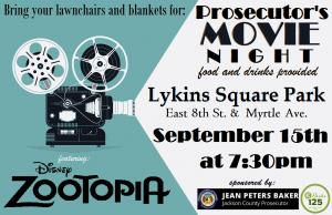 JCPO Movie Night Flyer