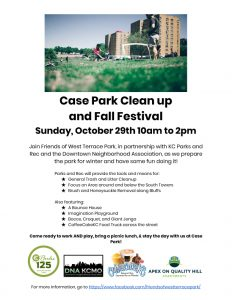 Case Park Fall Flyer