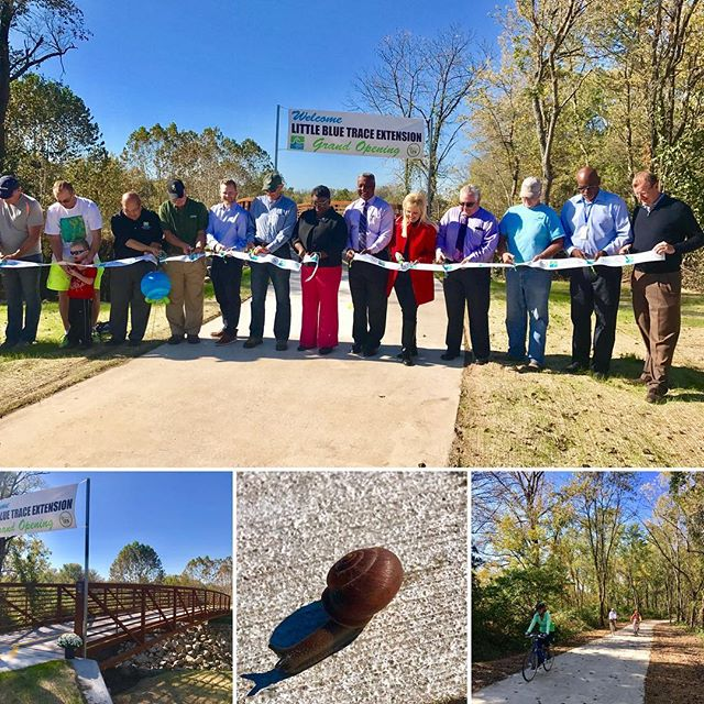 ‪Little Blue Trace Extension Ribbon Cutting #KCParks #JacksonCountyParks+Rec  #SnailOnTheTrail ‬